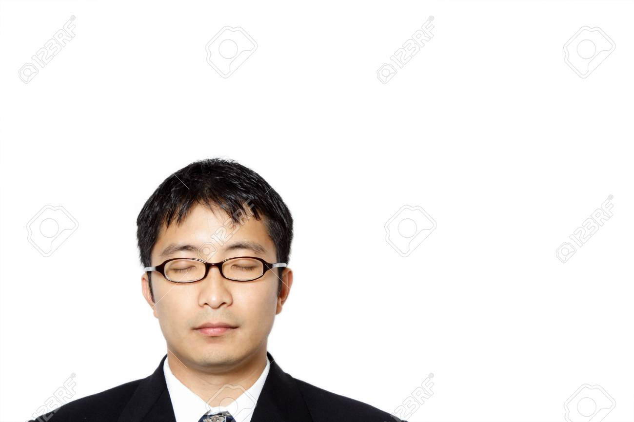Businessman with his eyes closed Stock Photo - 536131