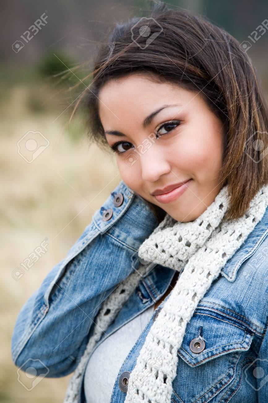 A portrait of a beautiful young woman outdoor Stock Photo - 2705254