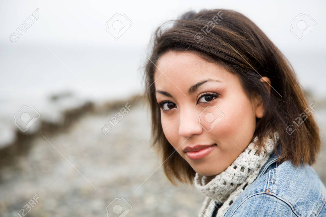 A portrait of a beautiful young woman outdoor Stock Photo - 2705251