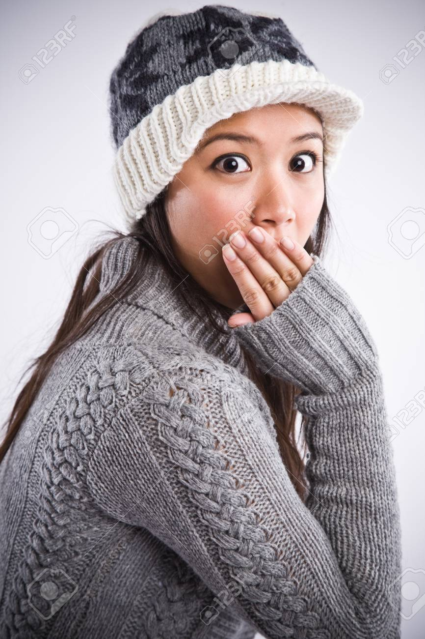 A shot of a surprised beautiful asian woman Stock Photo - 4283525