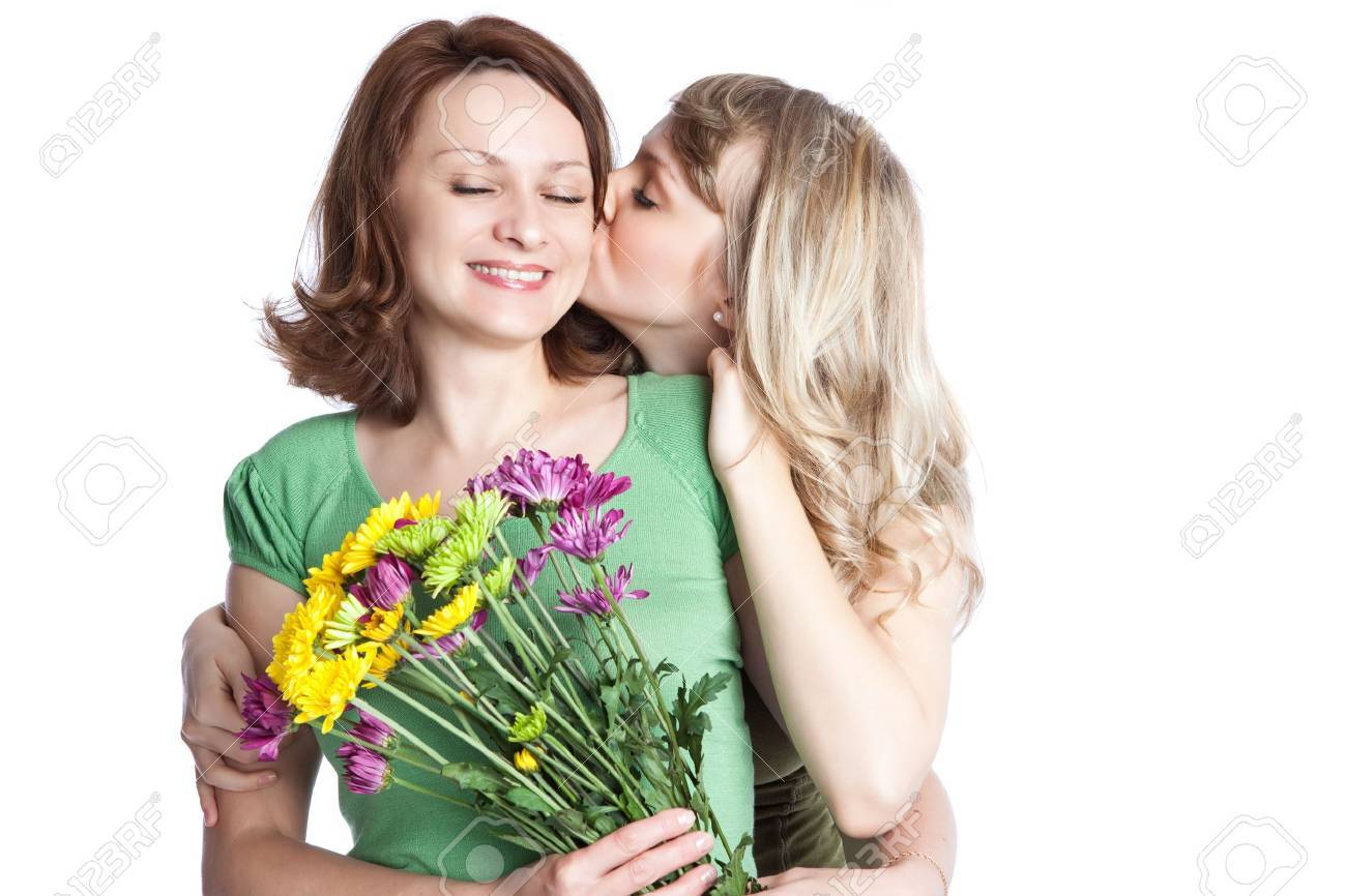 A portrait of a happy mother and daughter celebrating mother's day Stock Photo - 6375317