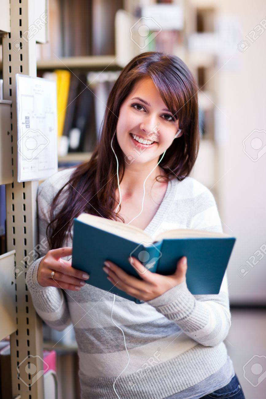 A portrait of a mixed race college student at campus Stock Photo - 7893679