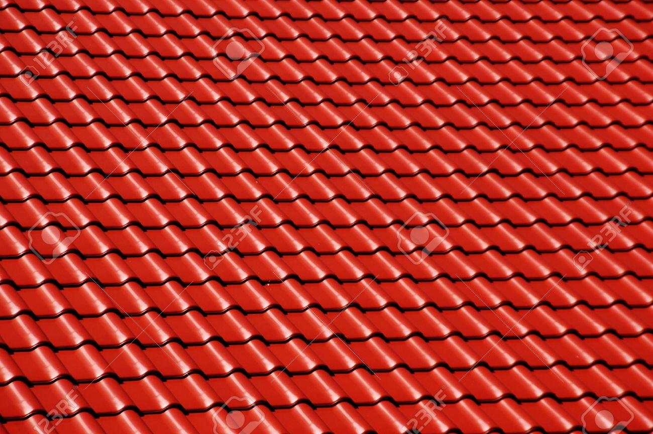 Exceptional Toit D Une Maison #1: Banque Du0027images - Toit Du0027une Maison Avec De Nouvelles Tuiles Rouges
