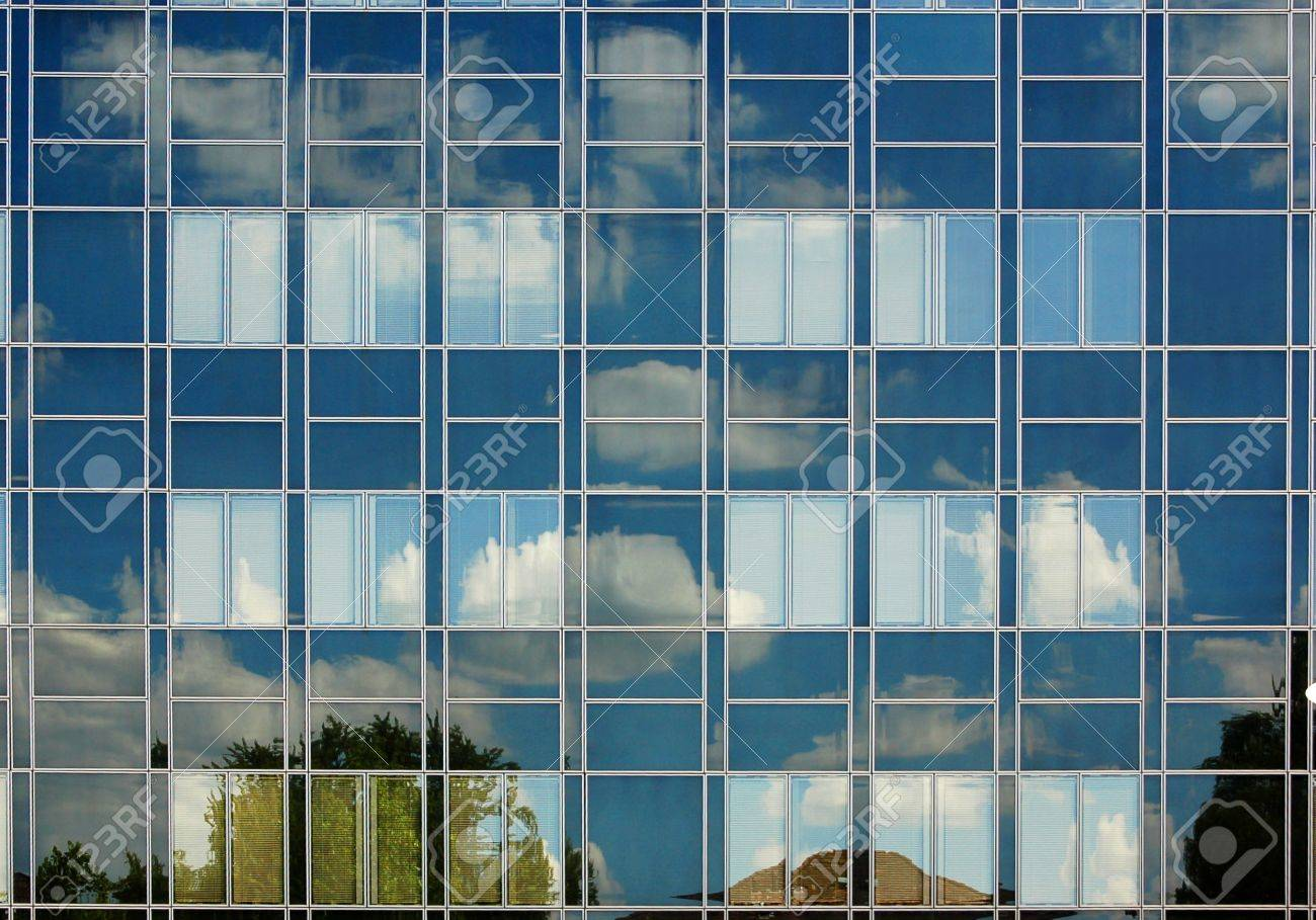 Window facade  Window Facade With Blue Sky With Clouds Stock Photo, Picture And ...