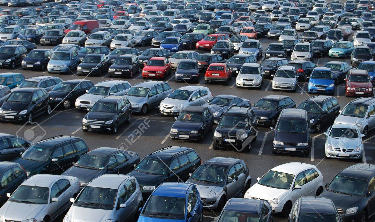 Cars on a parking lot in Germany Stock Photo - 4507128