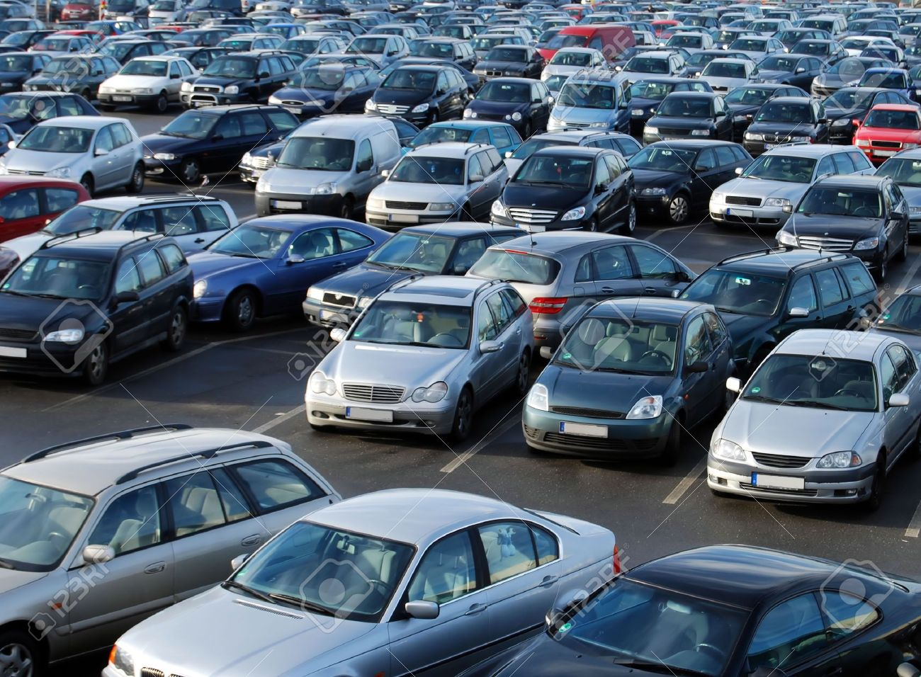 Cars on a parking lot in Germany Stock Photo - 5335074