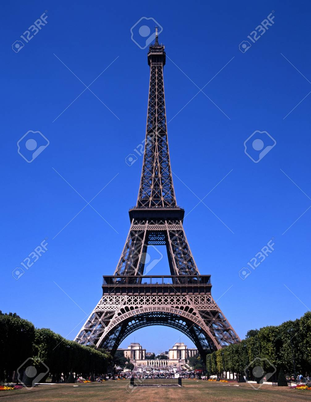 View Of The Eiffel Tower Paris France Europe Stock Photo Picture And Royalty Free Image Image 13751732