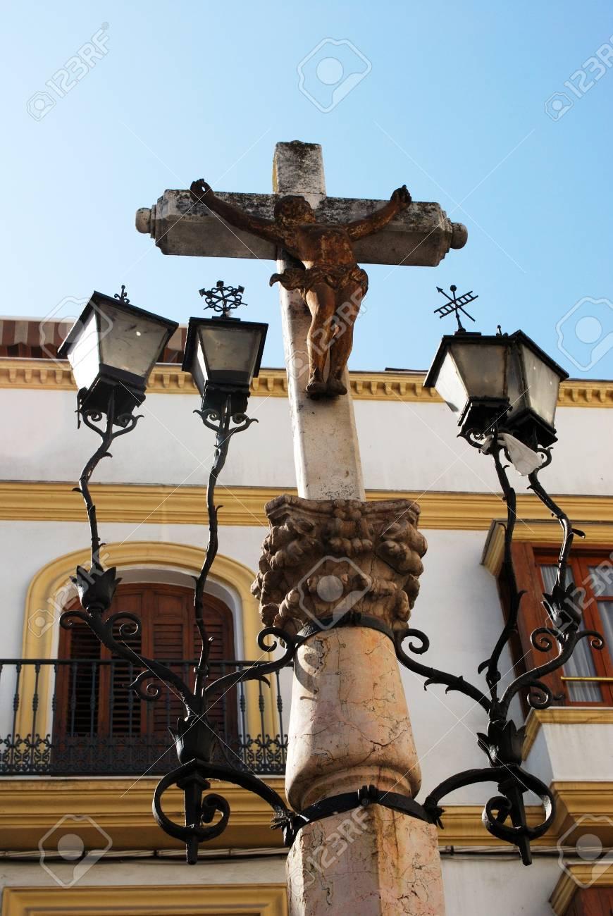 Piedra Crucifijo Con Faroles De Hierro Forjado, Aguilar De La ...