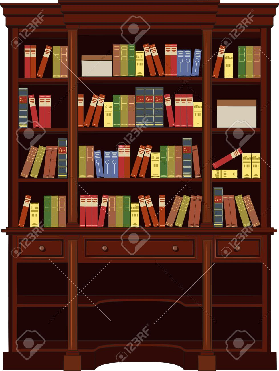 Book Cabinet Vector Royalty Free Cliparts, Vectors, And Stock ...