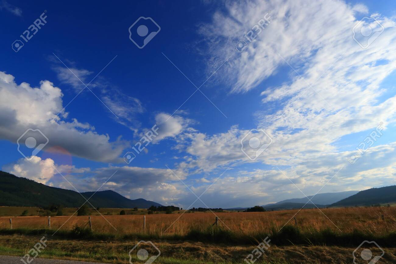 Pyrenean countryside in Capcir, Roussillon in the southern of France - 132389118