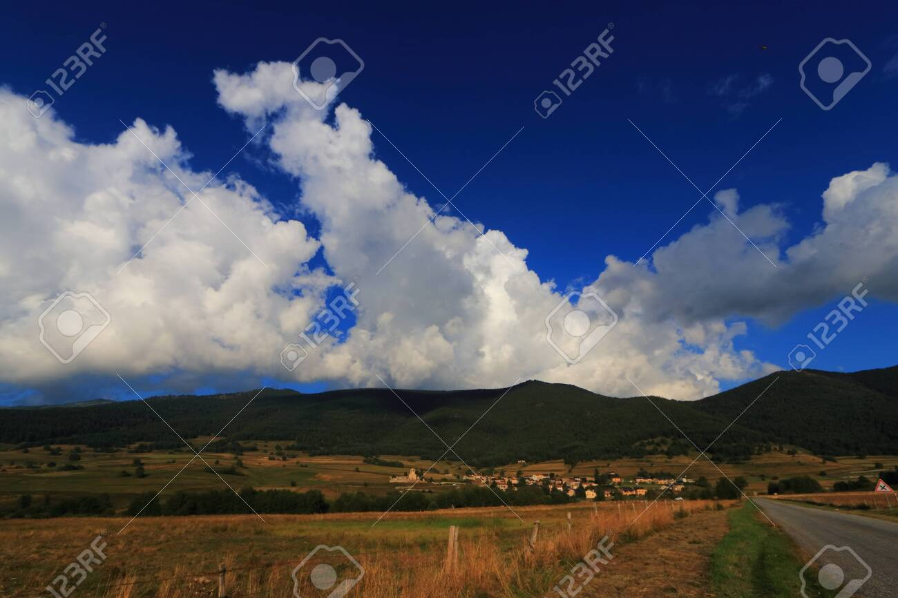 Pyrenean countryside in Capcir, Roussillon in the southern of France - 132389149