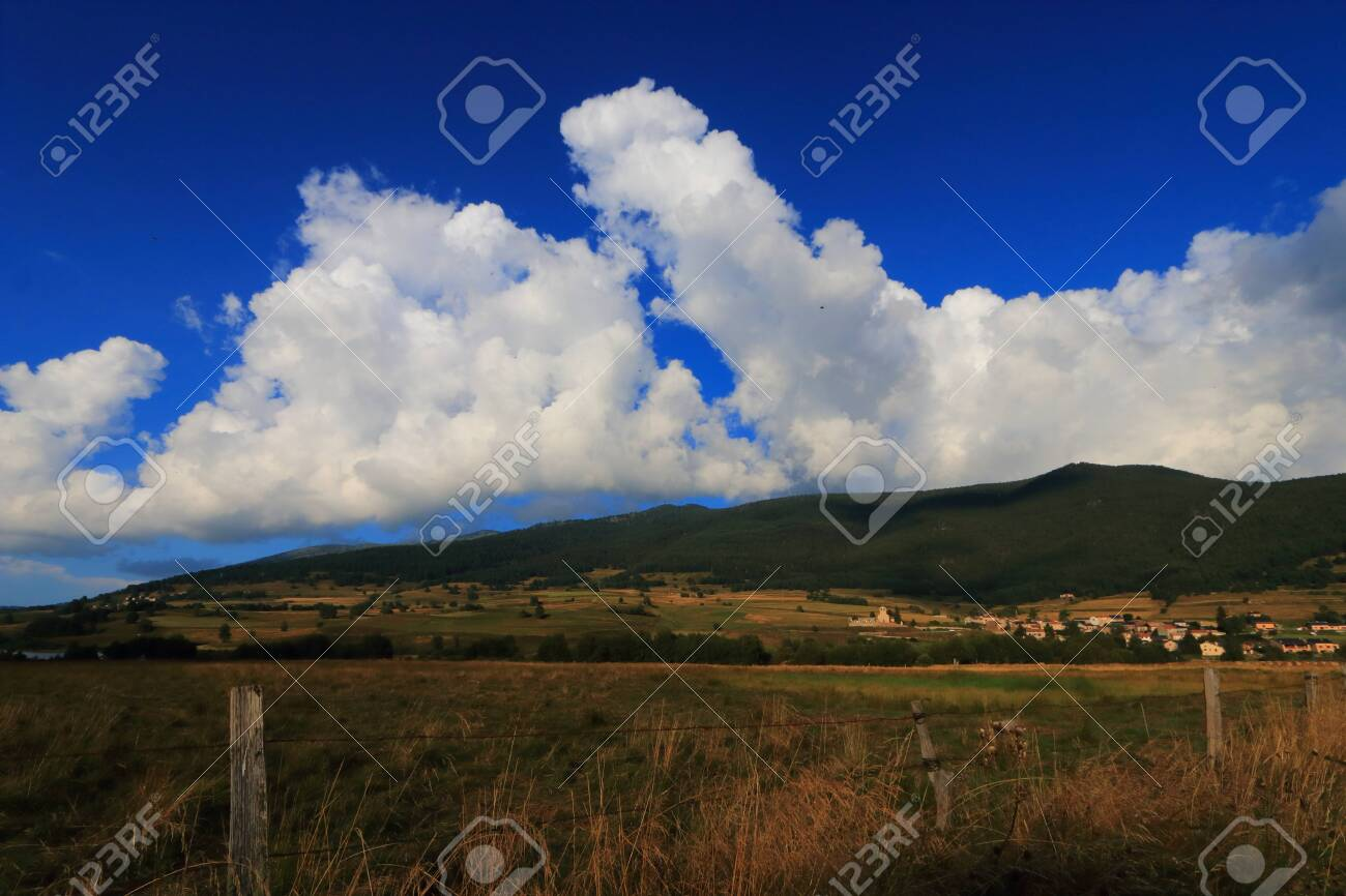 Pyrenean countryside in Capcir, Roussillon in the southern of France - 132389217