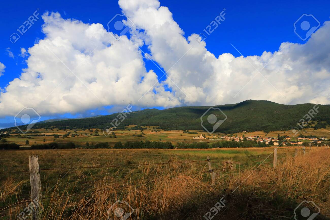 Pyrenean countryside in Capcir, Roussillon in the southern of France - 132389236