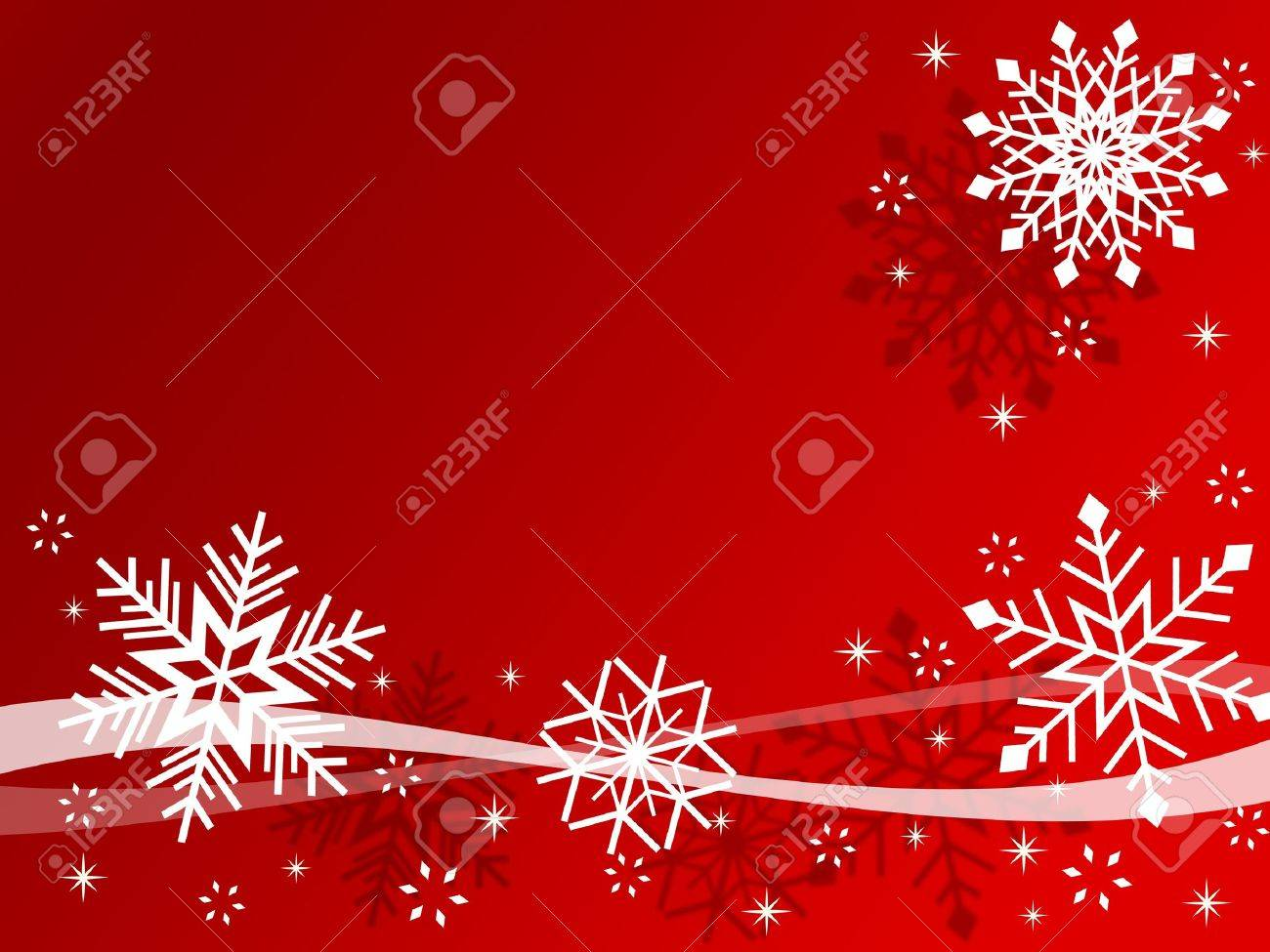 Red Christmas card with snowflakes Stock Photo - 10430438