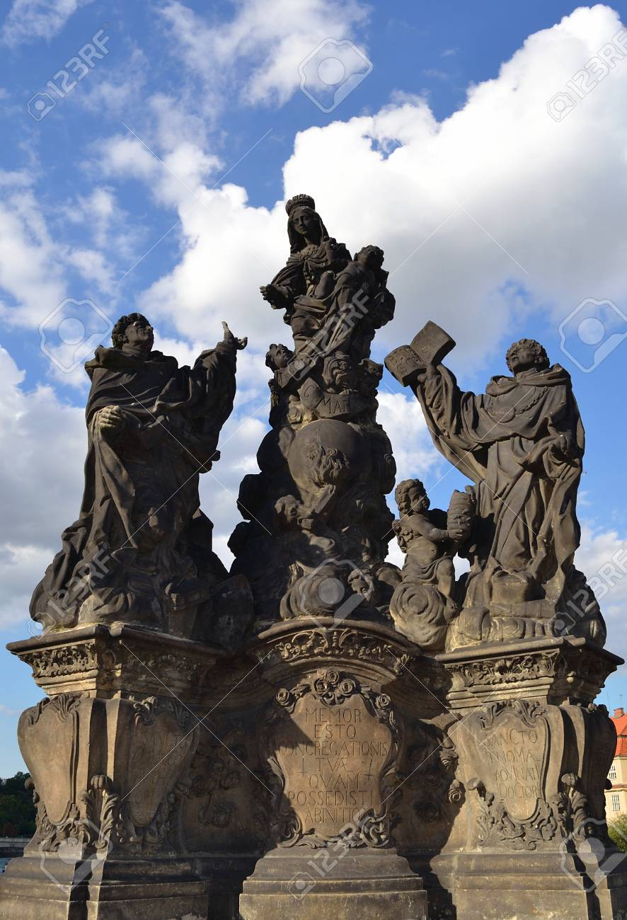 Statue on Charles bridge, Prague Stock Photo - 15225442
