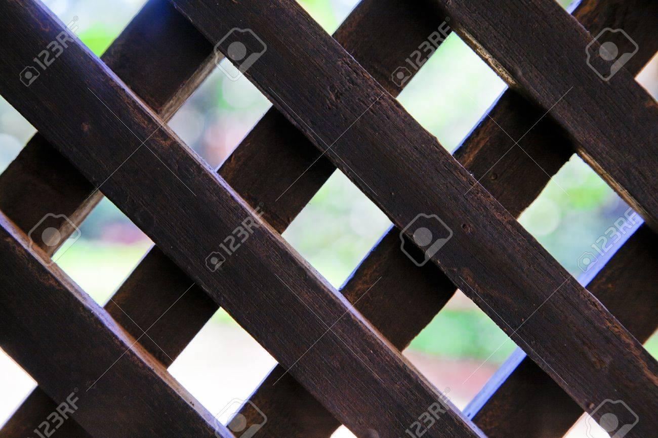 Paysage De L\'homme Noir Fait écran Treillis En Bois De Jardin De ...