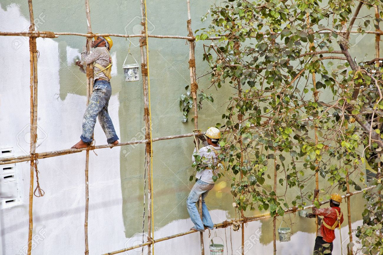 mumbai indian horizontal von außen nackten fuß dekorateure