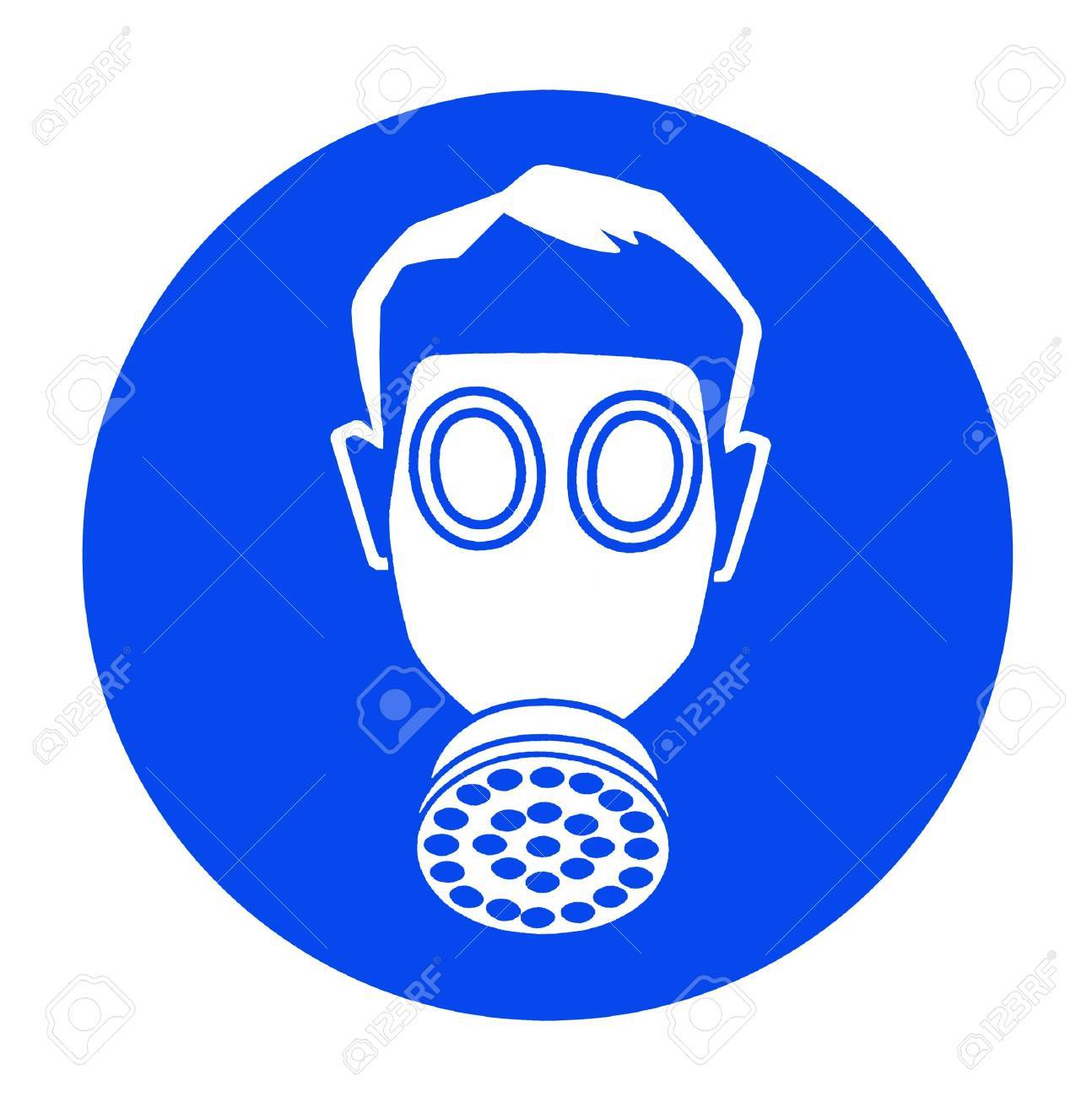 blue industrial warning signs Stock Photo - 15869833