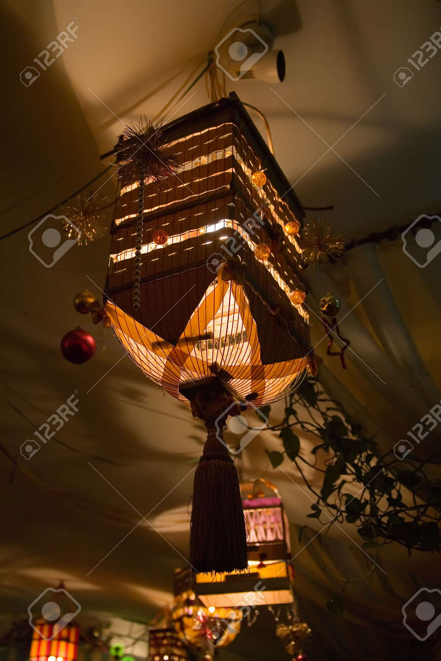 The creative luster made of a cell in cafe in the city of Kiev Stock Photo - 728046
