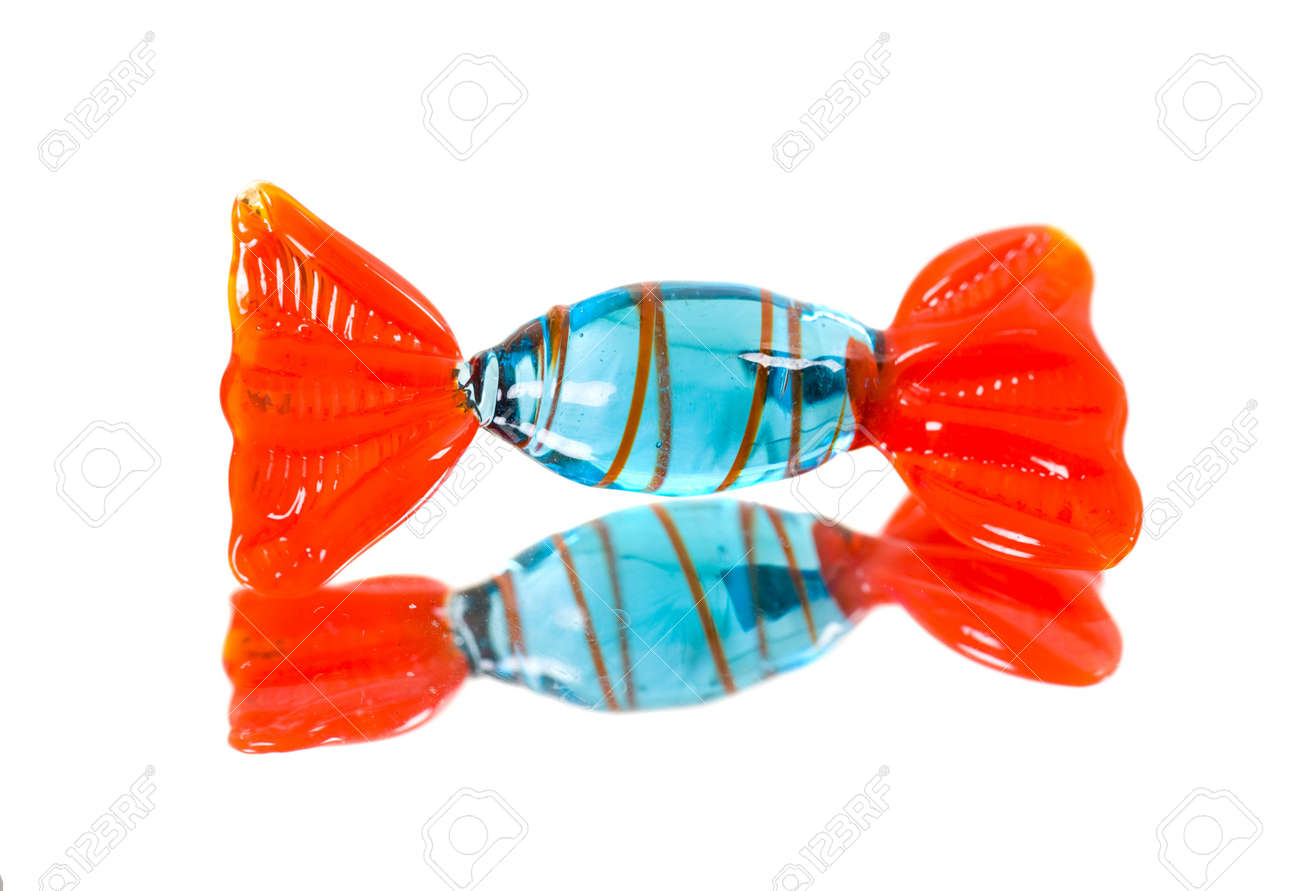 Glass candy and its reflection in a mirror Stock Photo - 5895423