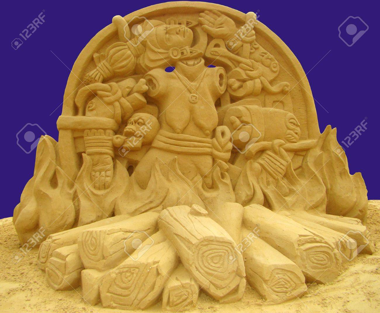 The Goddess Of Aztecs The Moon. To It Sacrifices Including The ...