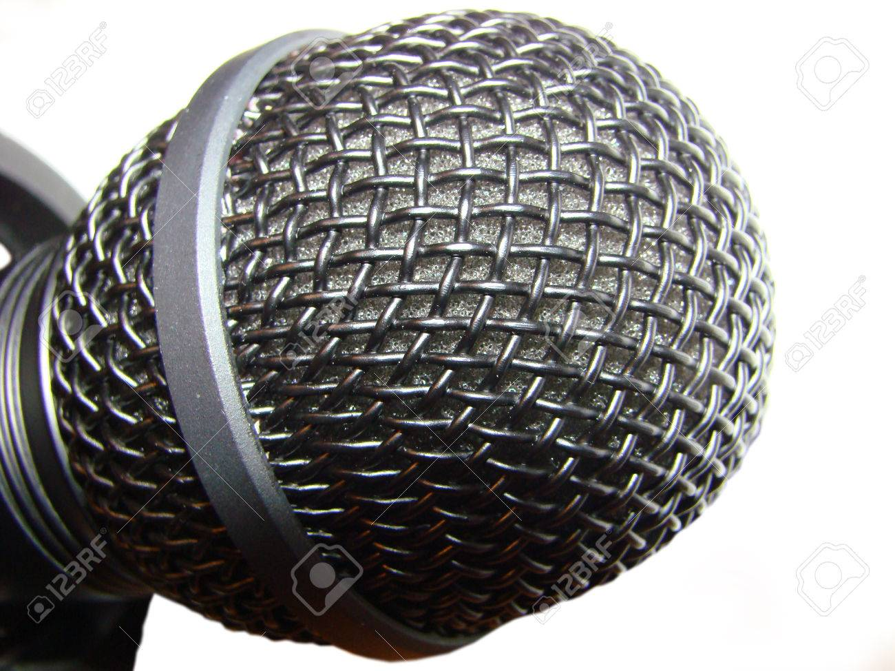 microphone - electroacoustic instrument sound vibrations into electrical current Stock Photo - 25465889