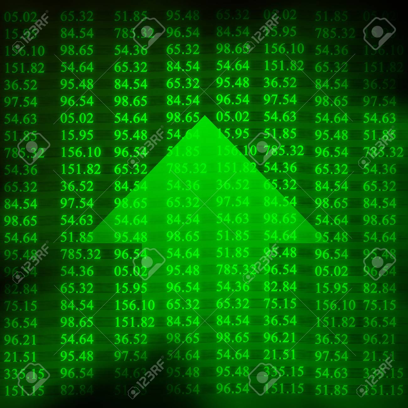 Electronic stock numbers and arrow Stock Photo - 1727102