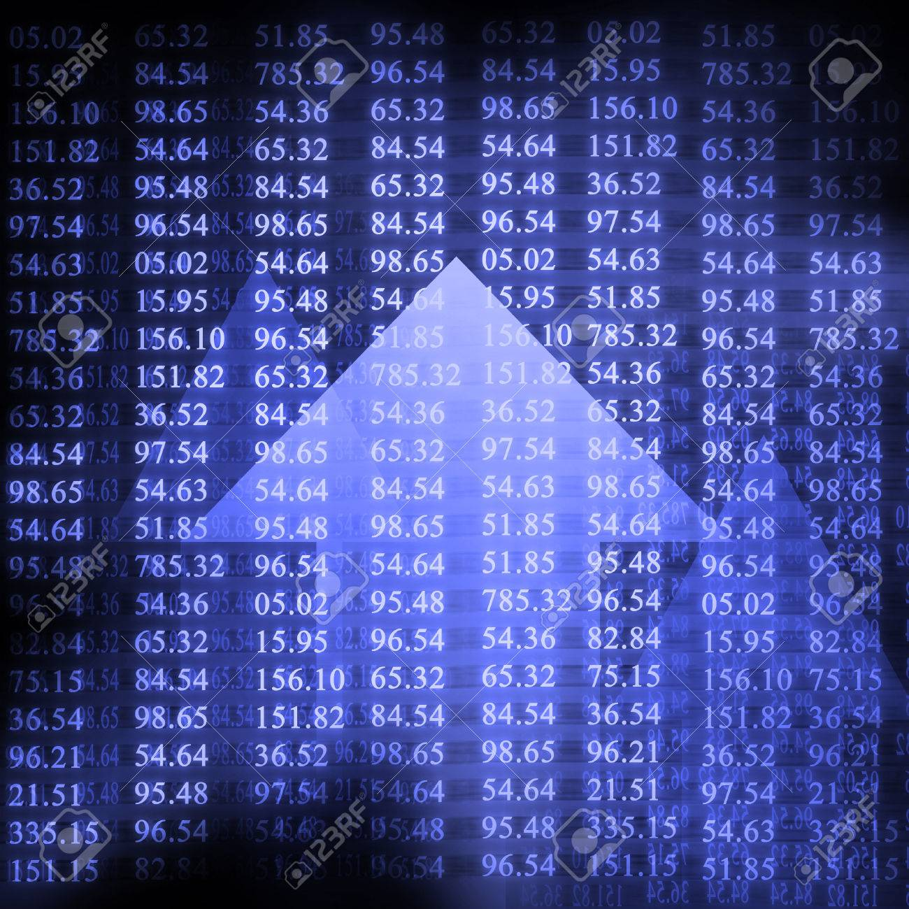 Electronic stock numbers and arrow Stock Photo - 1727131