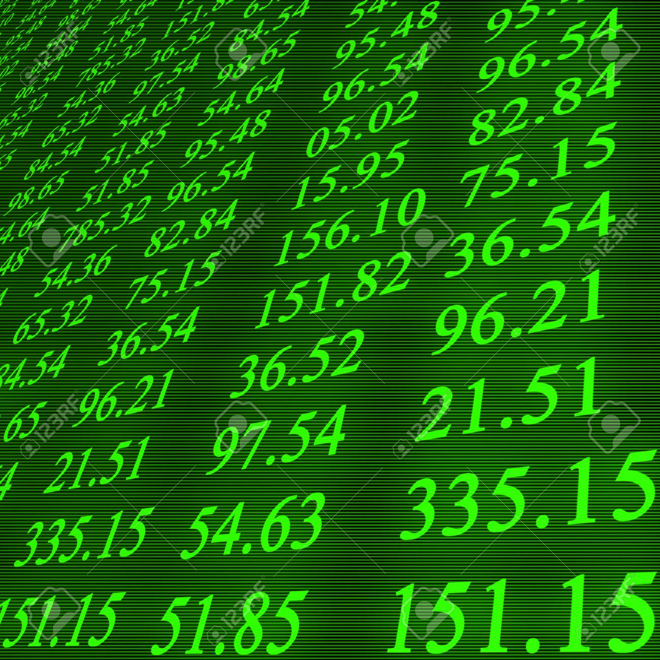 Electronic stock numbers Stock Photo - 1727099