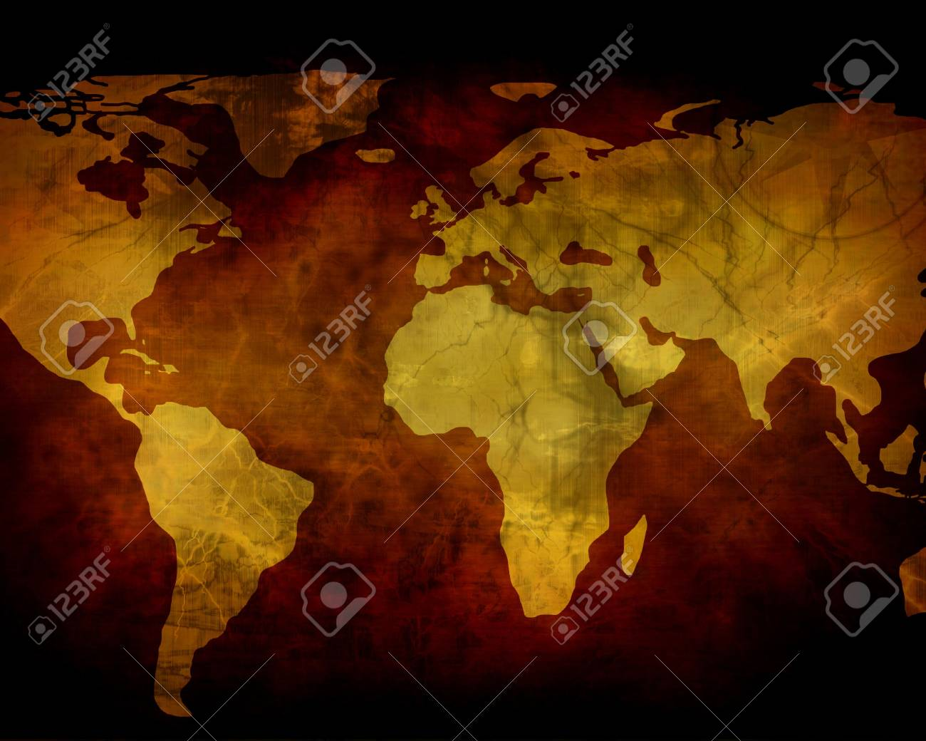 Old paper texture with world map Stock Photo - 2275110