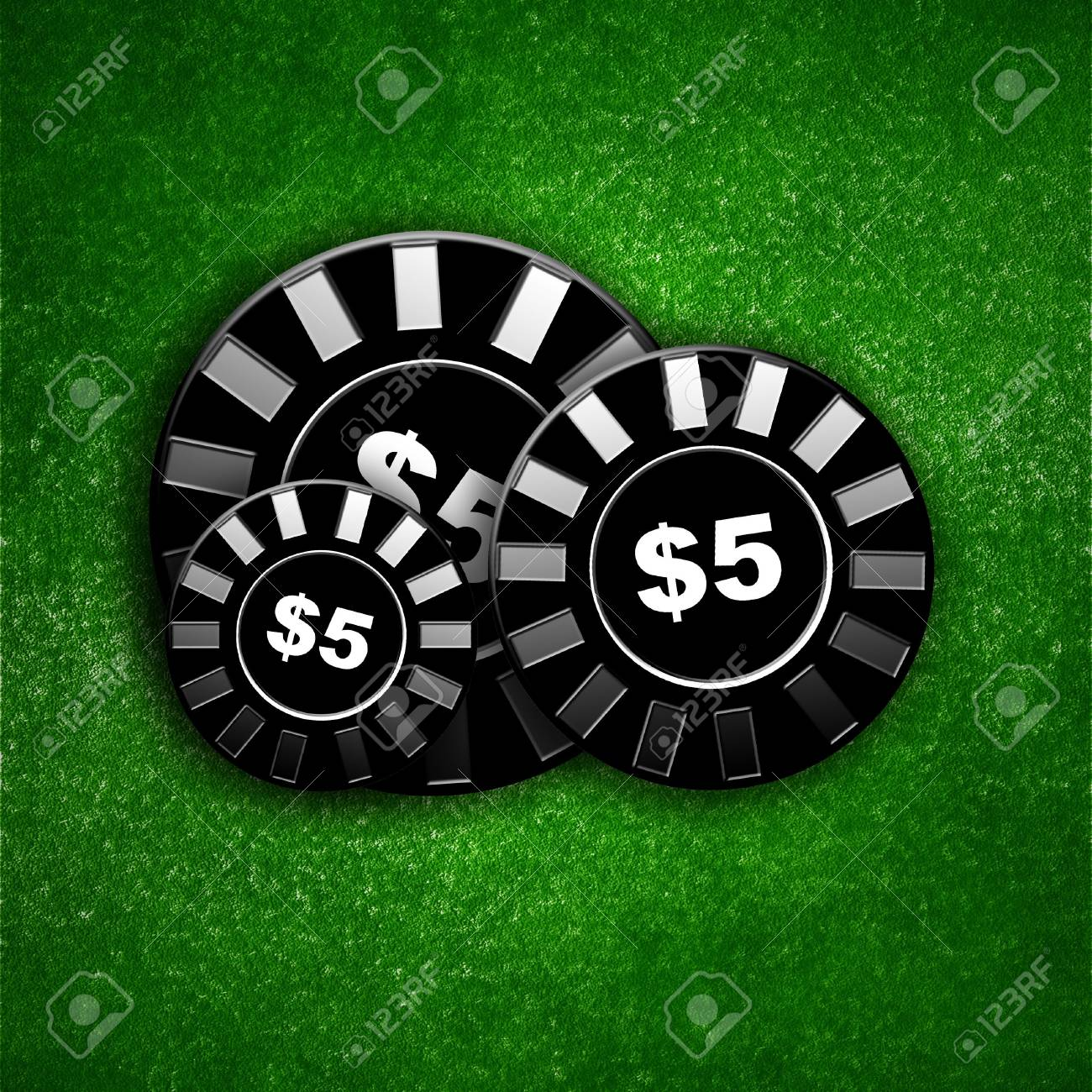 Poker table with some poker chips on top Stock Photo - 2802195