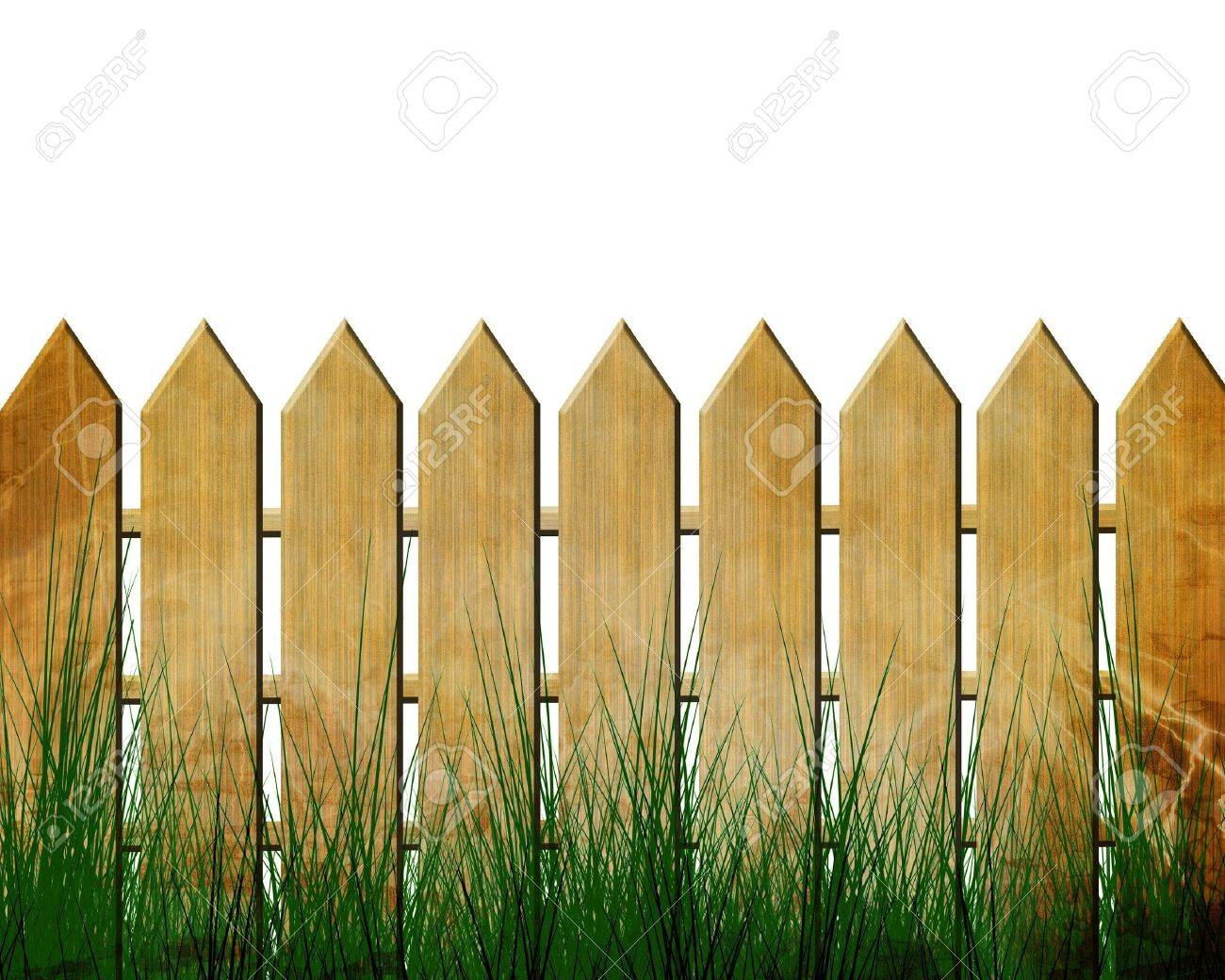 Fence isolated on a white background Stock Photo - 2843279