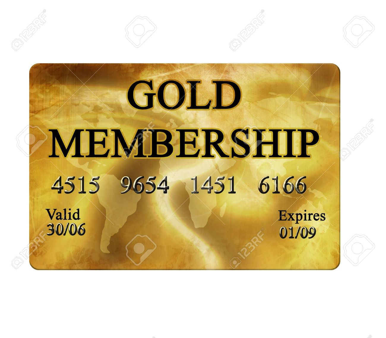 Gold Membership Card On White Background Stock Photo   2990875