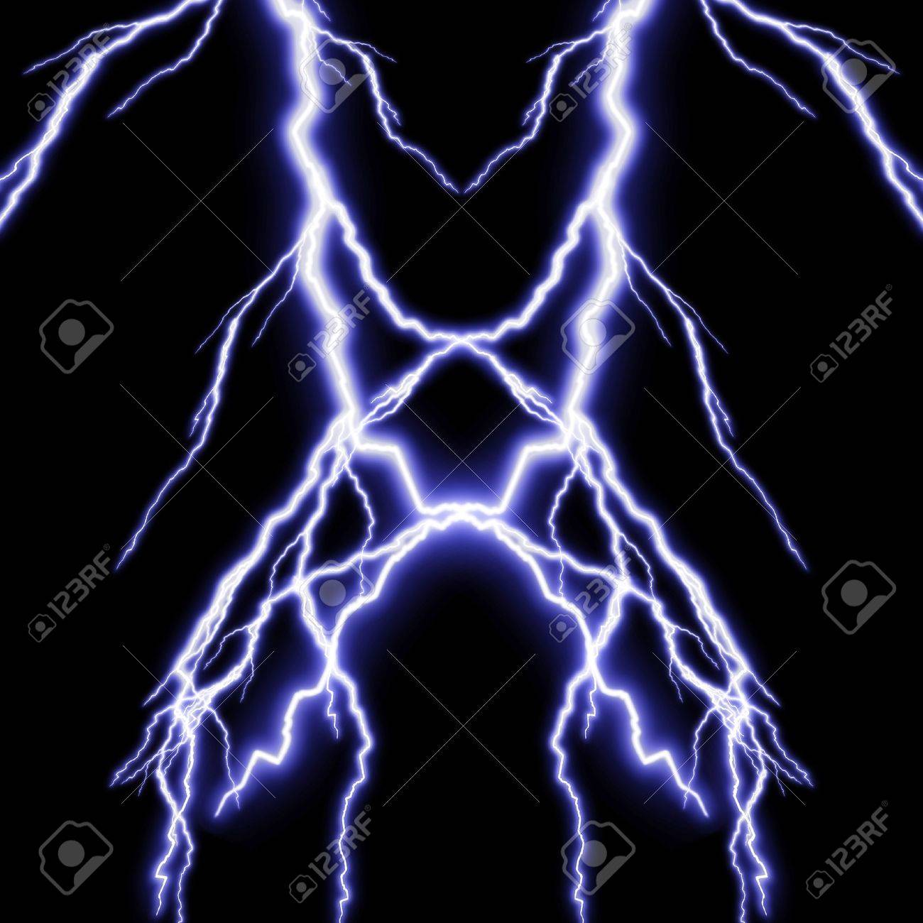 Lightning Background Black