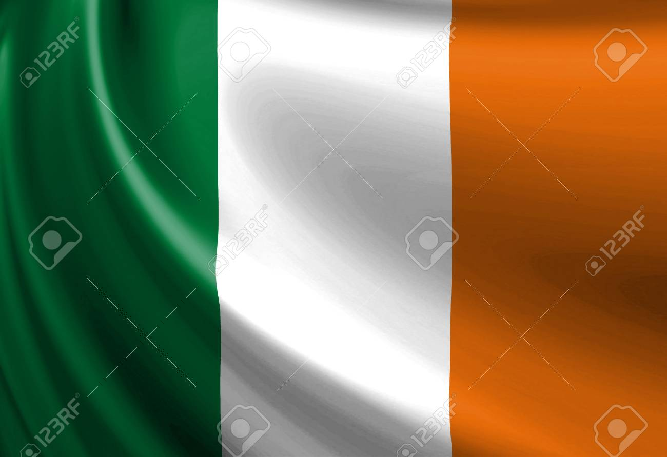 Irish flag waving in the wind Stock Photo - 3206972