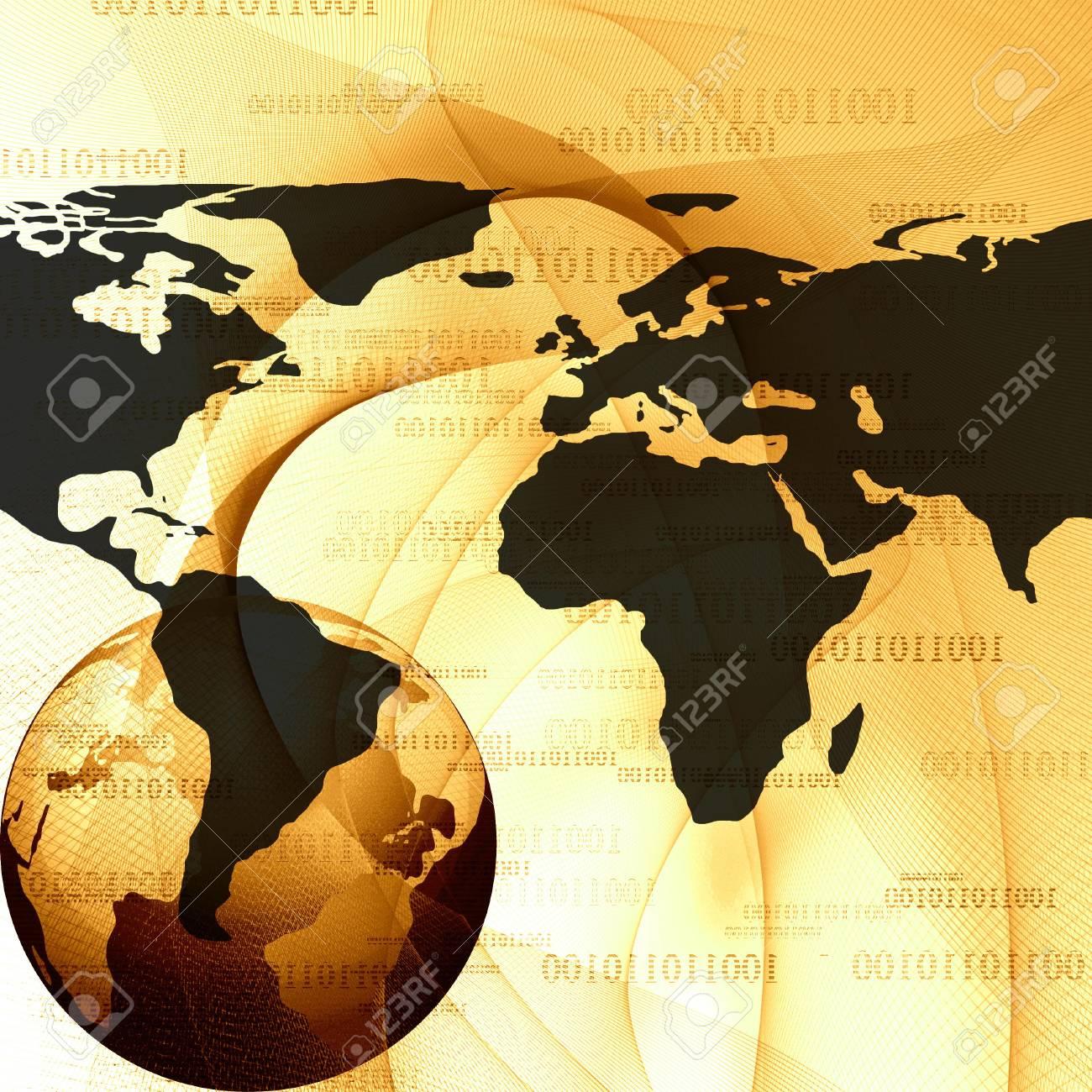 digital world on a light golden background Stock Photo - 3302919