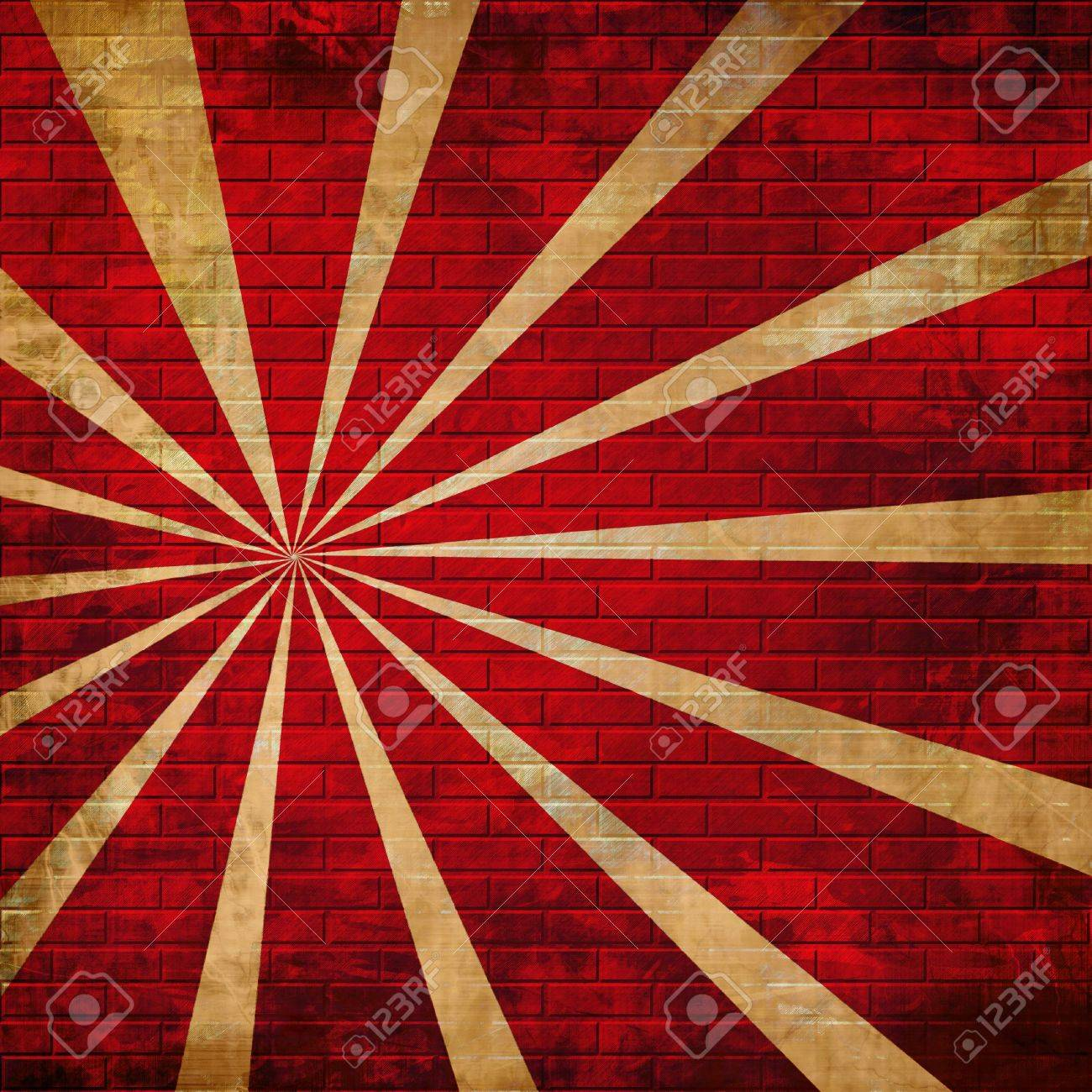 abstract rays on a red brick wall Stock Photo - 3302903