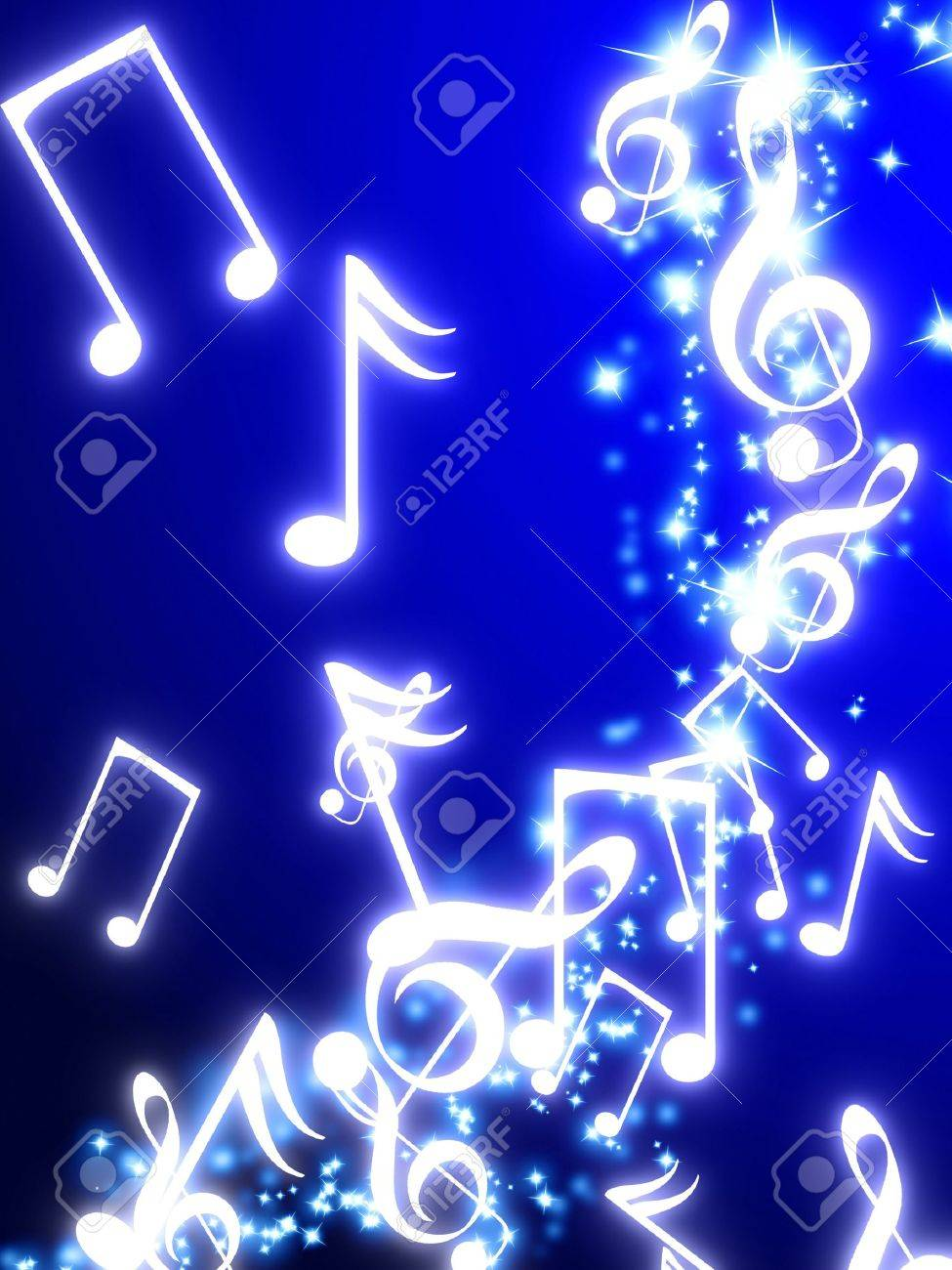 sparkling trail with musical notes Stock Photo - 3302203