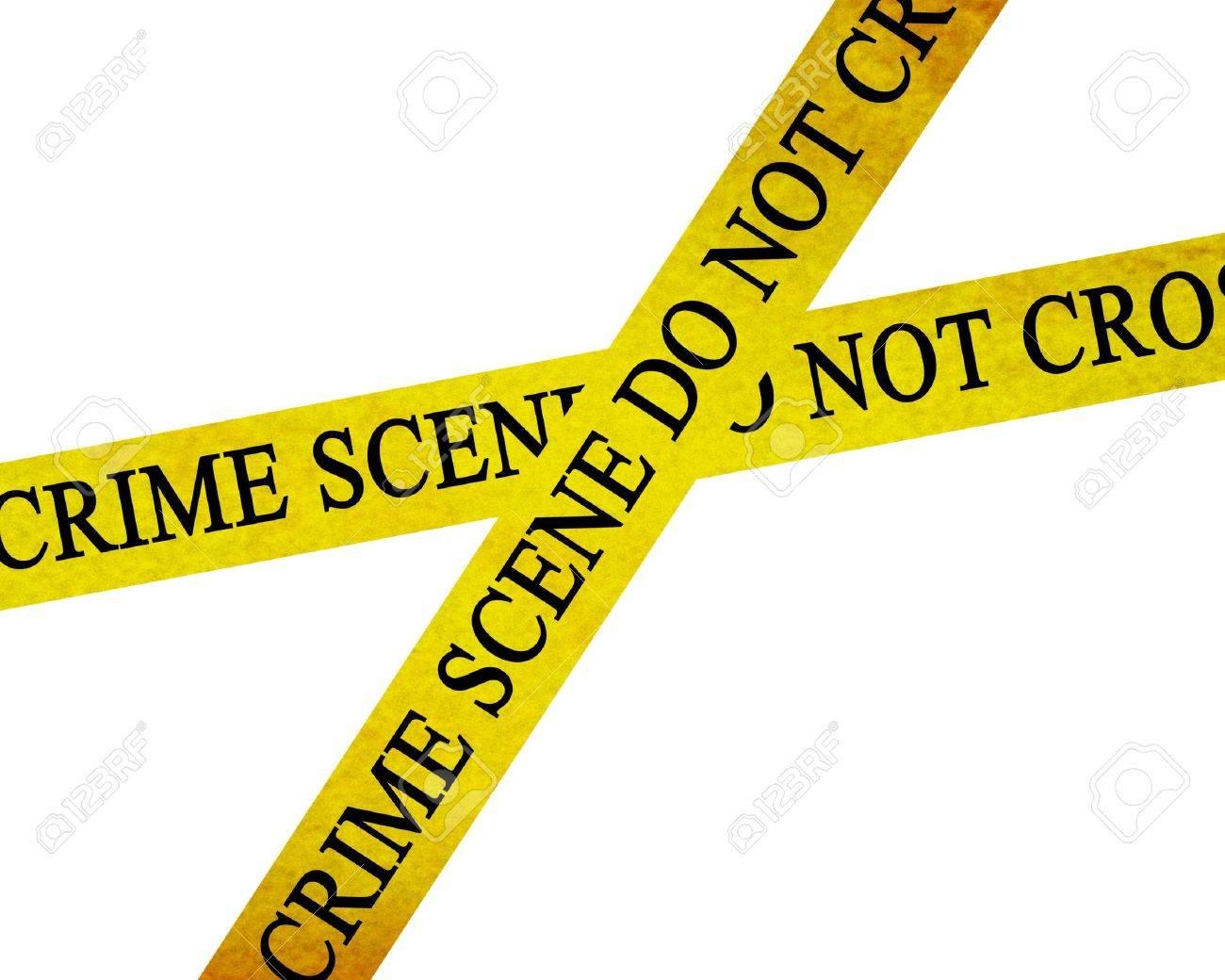 crime scene do not cross: police line Stock Photo - 3497196