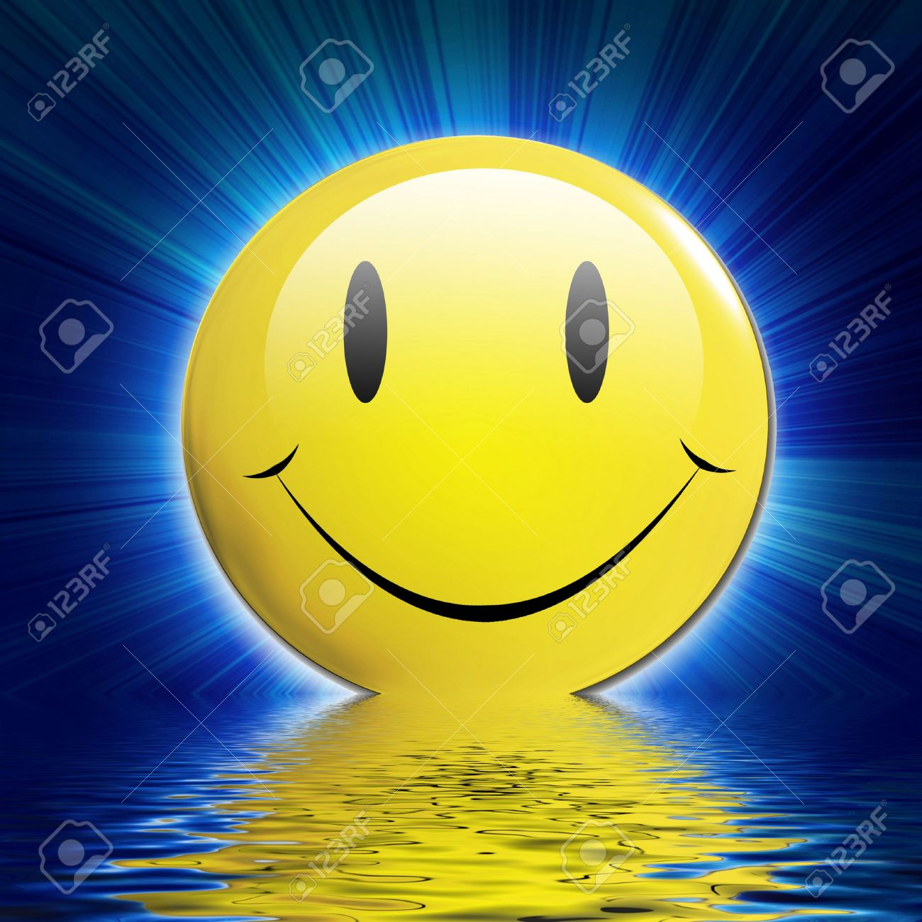 Happy smiley face on a dark blue background with rays stock photo happy smiley face on a dark blue background with rays stock photo 3509174 voltagebd Image collections