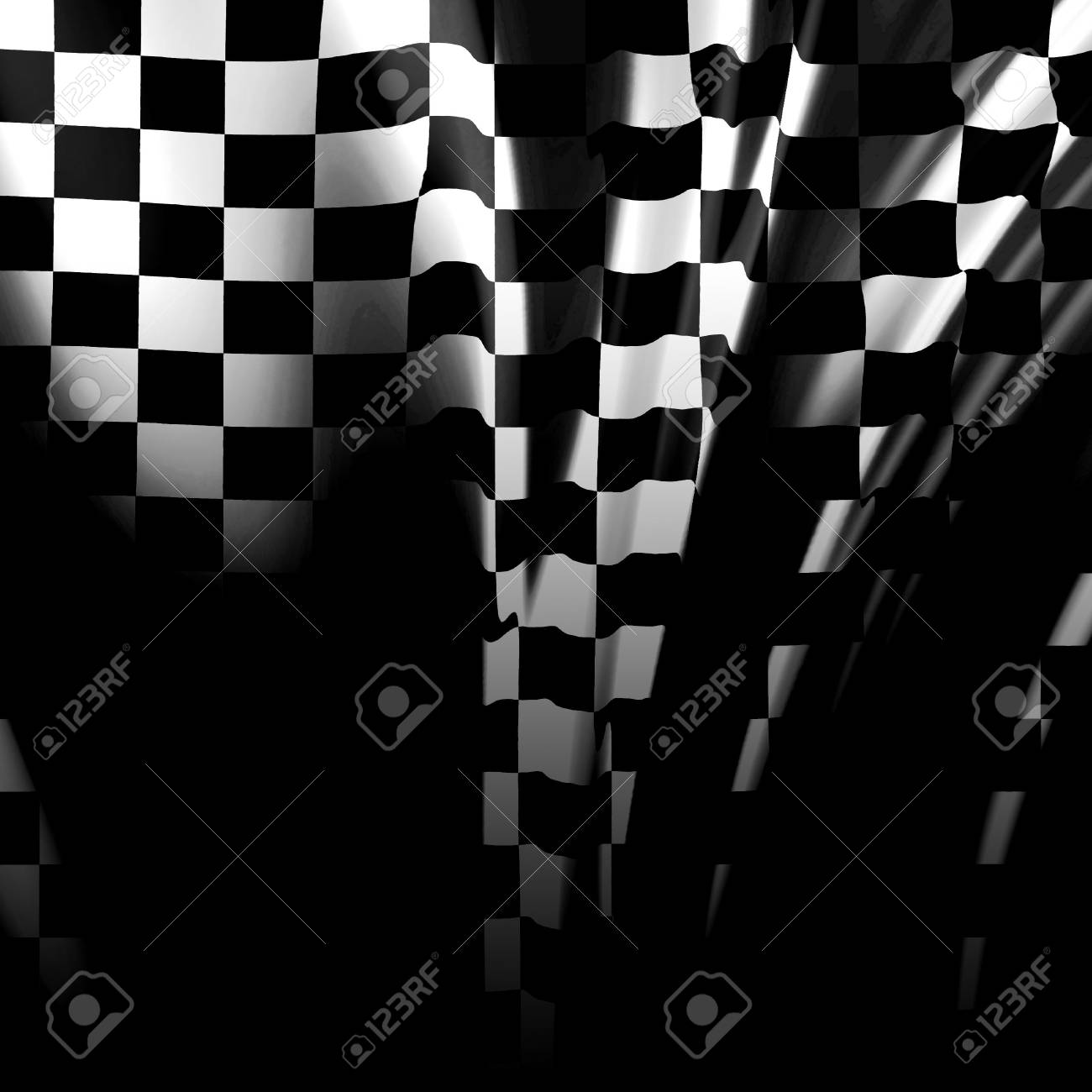Checkered flag waving in the wind with some folds Stock Photo - 3524751