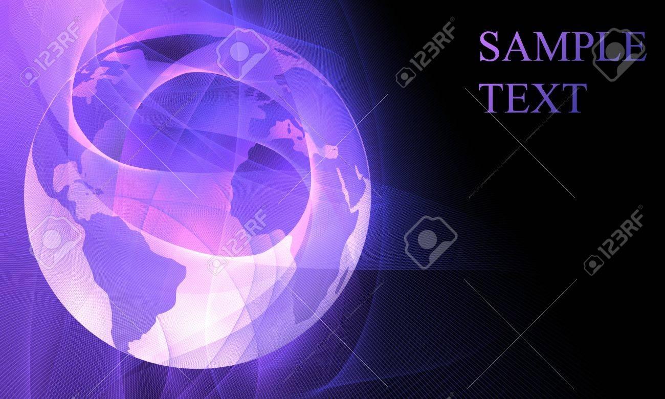 digital world on a soft purple background Stock Photo - 3640458