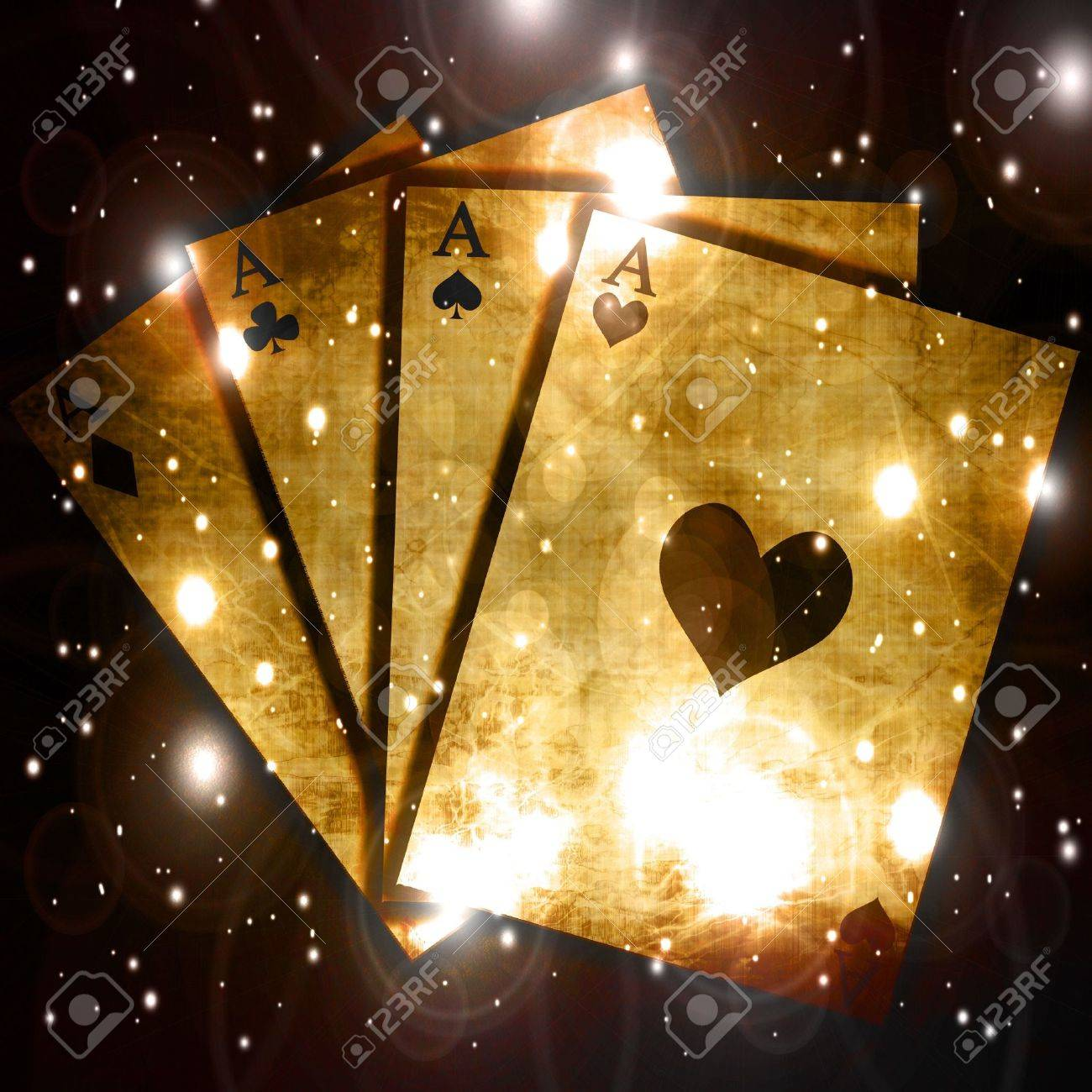 Poker table background - Poker Table With Soft Center Focus And Cards Stock Photo 3640297
