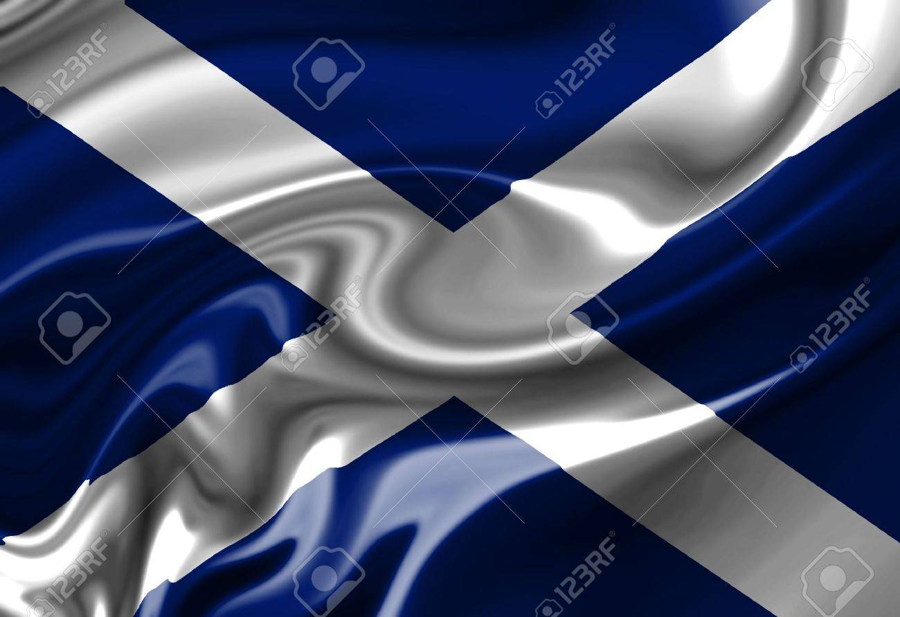 scottish flag waving in the wind stock photo picture and royalty