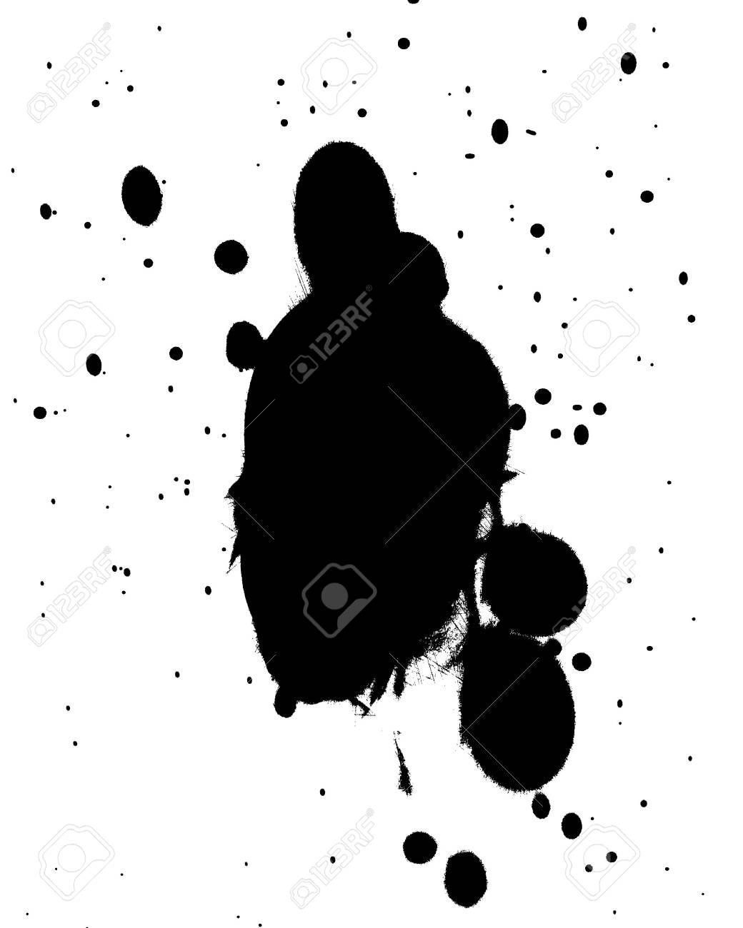 black splatter on a solid white background Stock Photo - 3640010