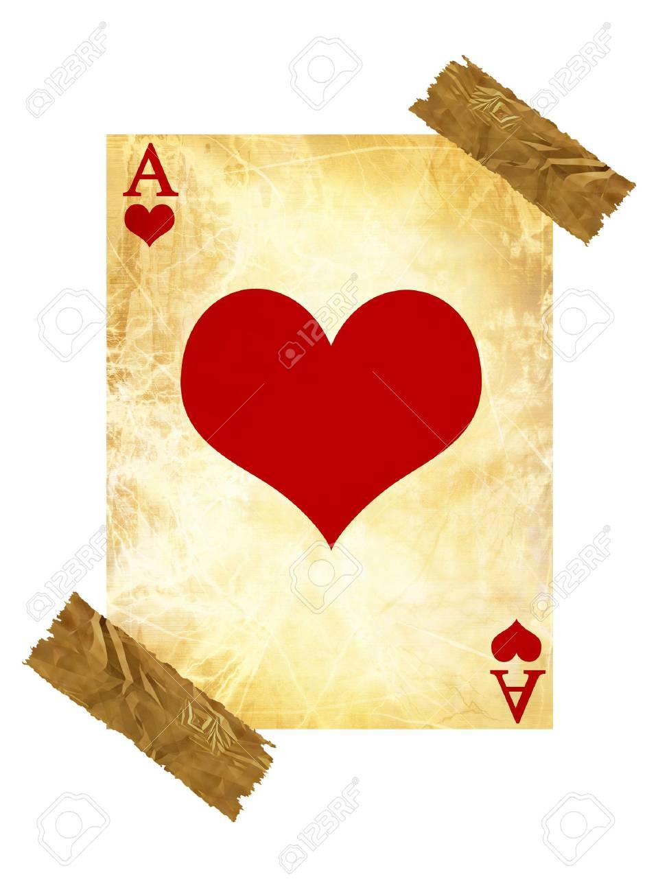 old playing card on a white background Stock Photo - 3688809