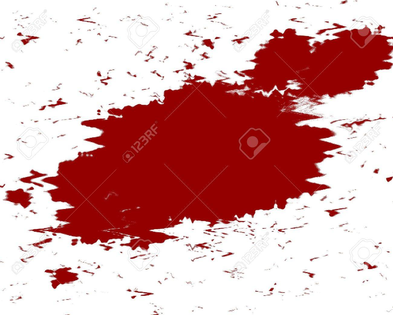 red blood splatter on a white background Stock Photo - 3718862