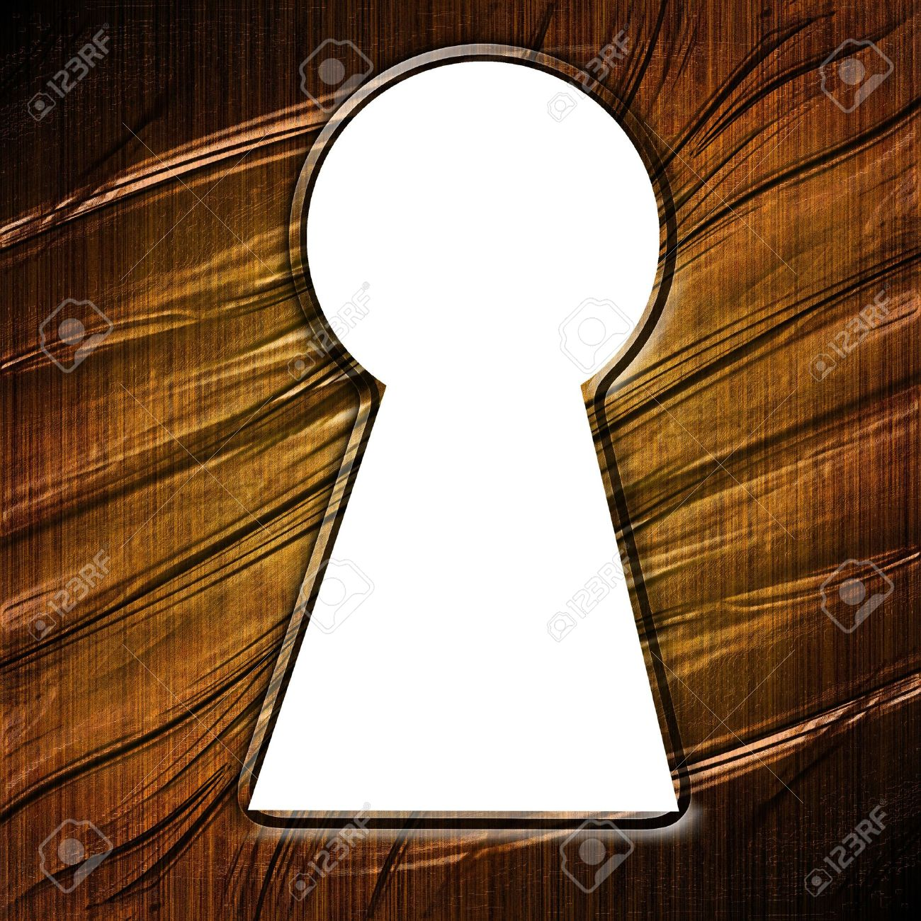 key hole in a wooden door with some damage Stock Photo - 3782675 & Key Hole In A Wooden Door With Some Damage Stock Photo Picture And ...