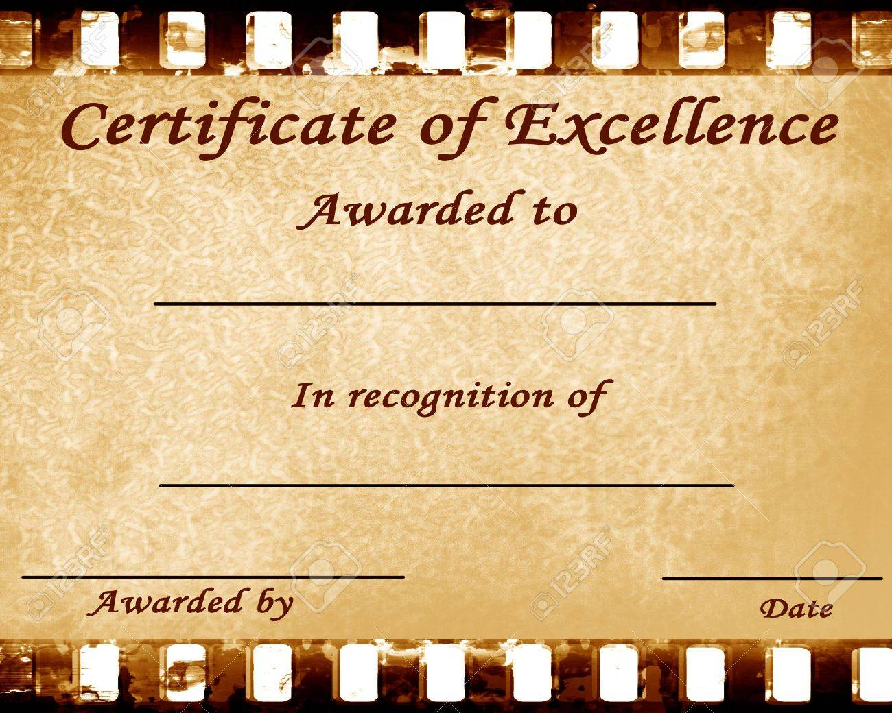 certificate of excellence with some stains on it Stock Photo - 3826421