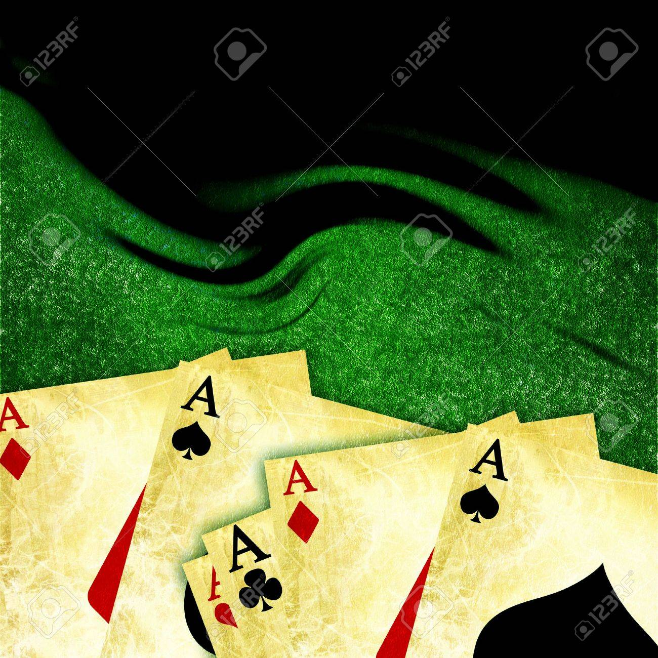 Poker table background - Stock Photo Poker Table Background With Playing Cards On It